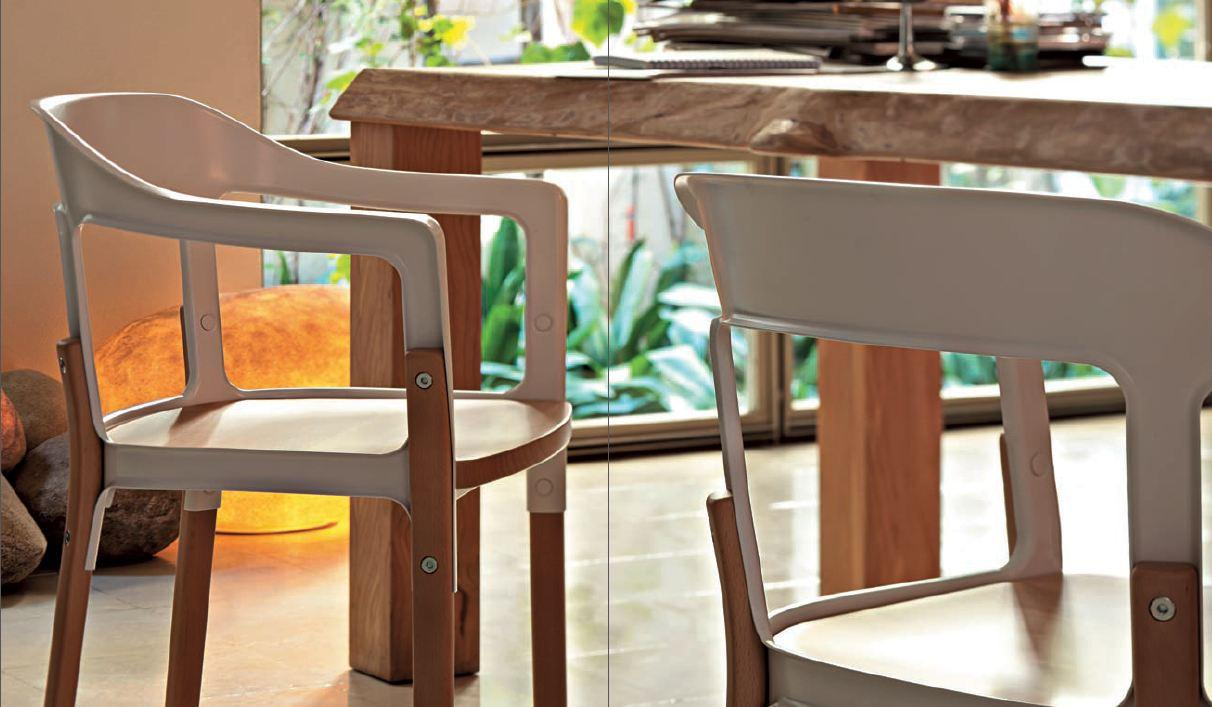 Magis steelwood chair houten poten en zitting bigbrands for Magis steelwood